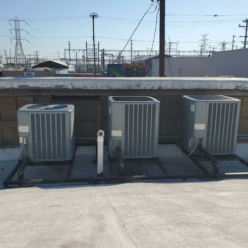 Heating and cooling installation in Los Angeles all done and ready to go!