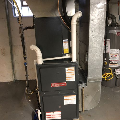 96 percent furnace and air conditioning installation