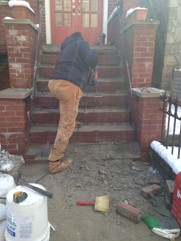 New Granite and Brick Stairs