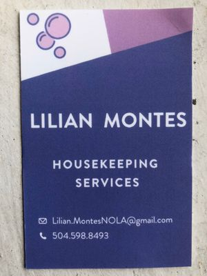 Avatar for Housekeeping services Lilian Montes LLC
