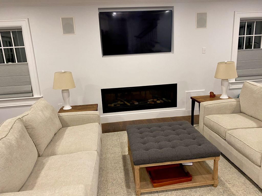 Mount TV, Conceal wires horizontally across wall