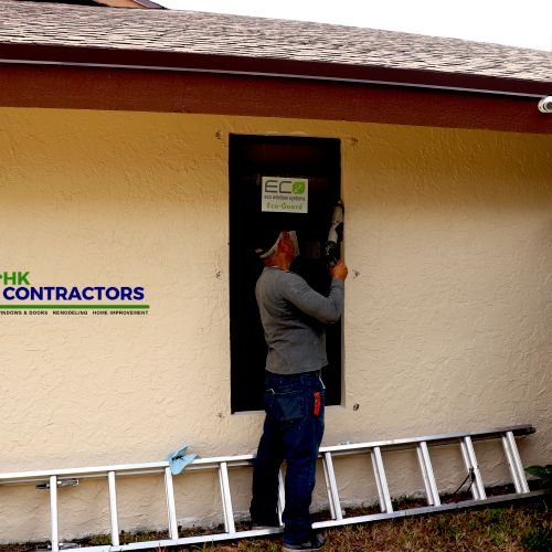 Finishing up installing new impact windows for this homeowner. Is your home protected and ready for the upcoming hurricane season?