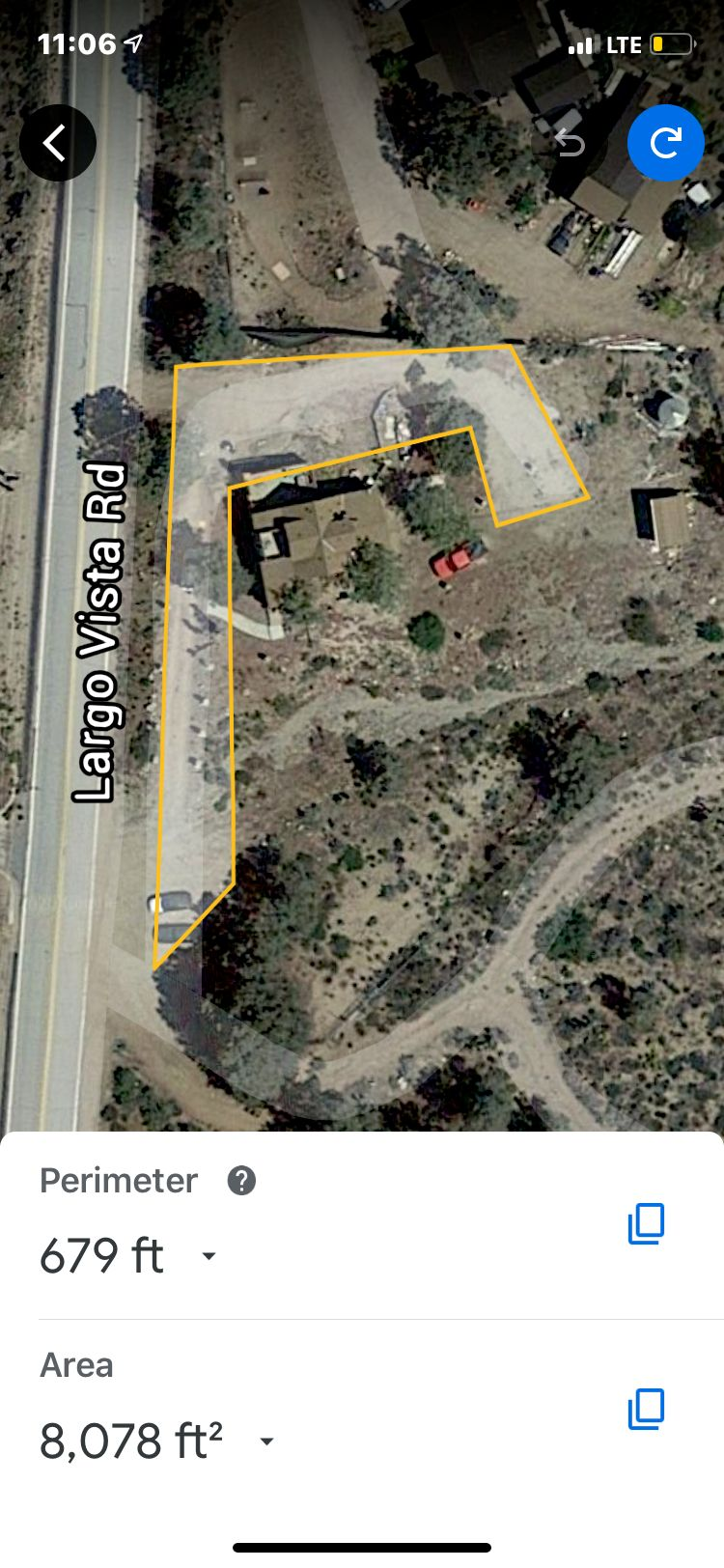 Land grading and base for water tank