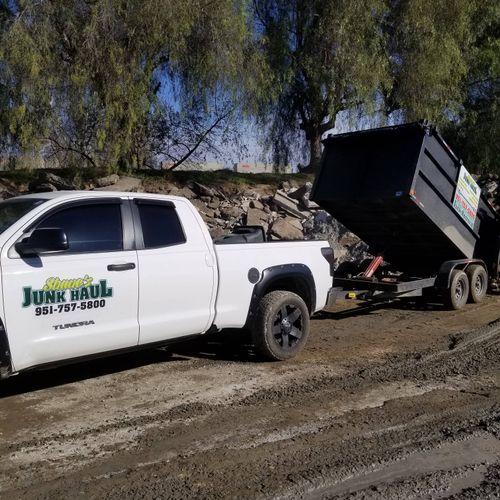 concrete recycling yard