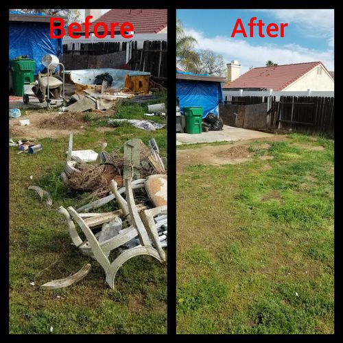 spa and trash removal. happy repeat customer.