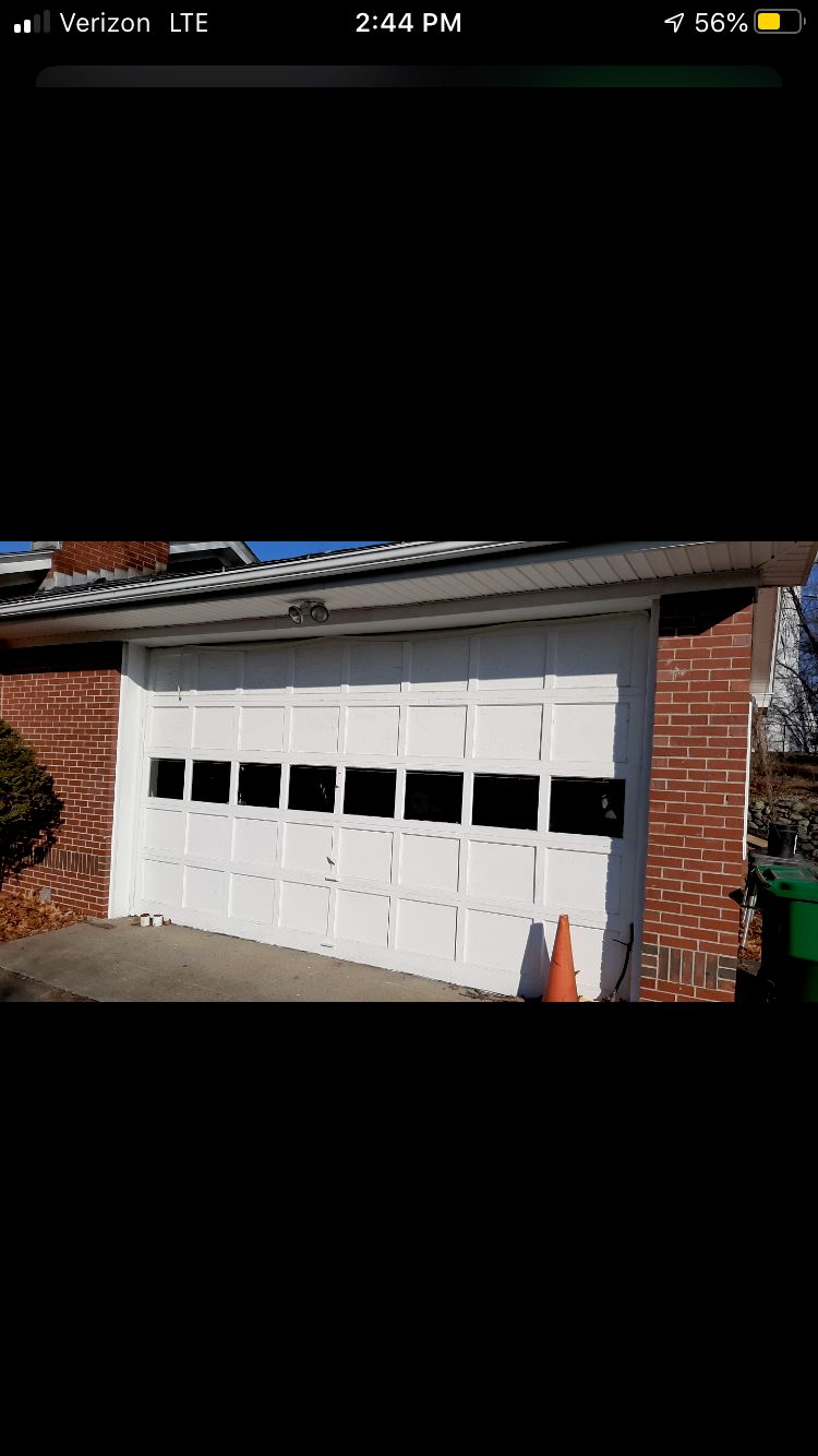 Garage door entry remodel