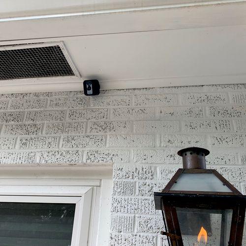 Back alley camera installed