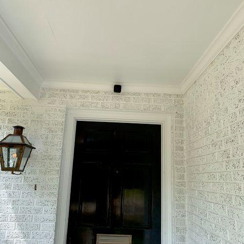 Front door camera installed