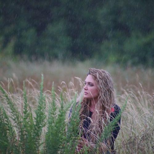 Self portrait in the rain