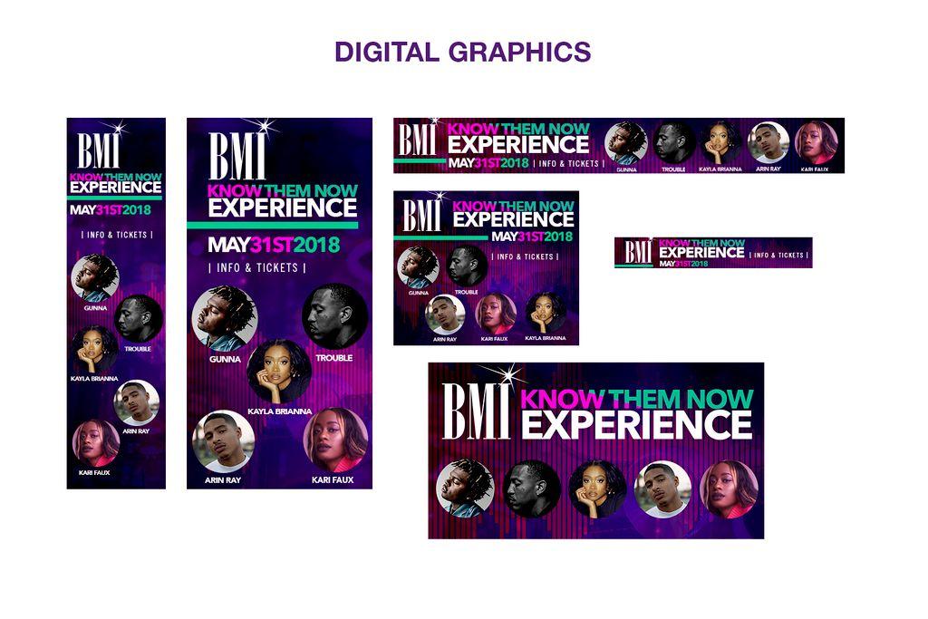 Digital graphics music showcase