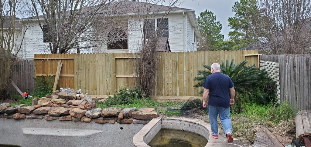 Sections of fence repair