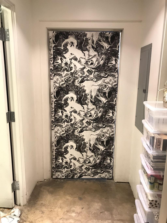Rodeo Drive custom door wallpaper