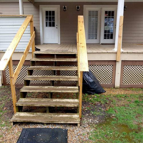 deck railing and ramp needed.