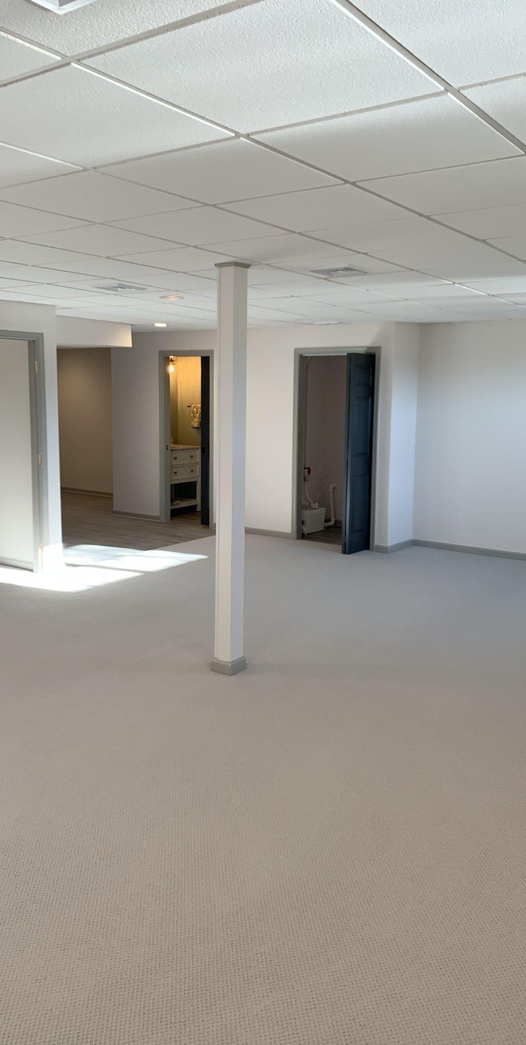 Basement- Flooring carpet install