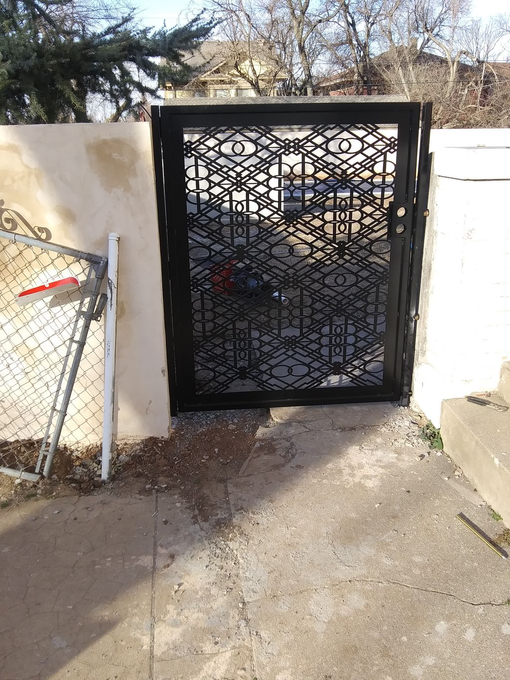 Custom wrought Iron gate doors