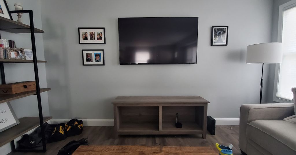 TV Mounting with Wire Concelment