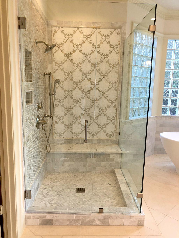 Custom Natural Stone Shower