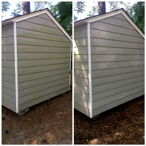 Power Washing of Shed
