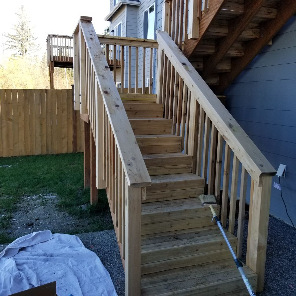 Deck and staires staining