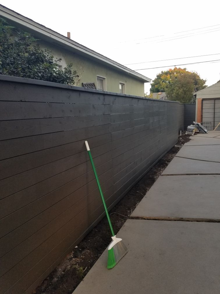 Installed fence