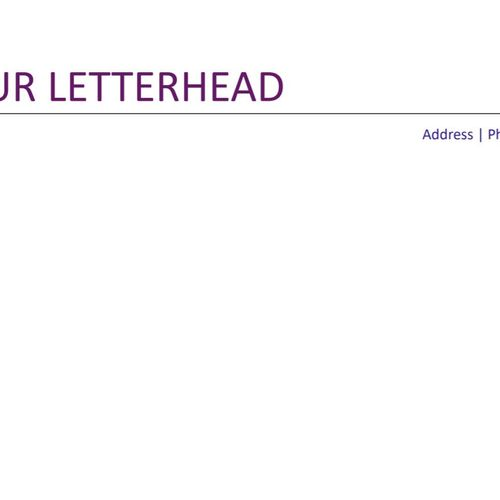 Your Matching letterhead (Res 3)