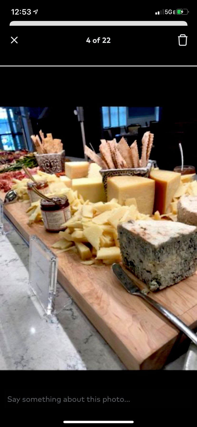 Cheese and Imported Deli Meats Display