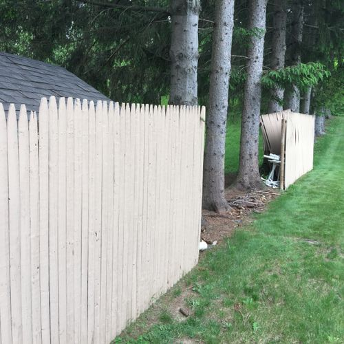 Old fence taken down