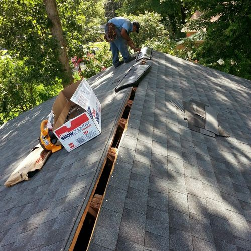 Finishing customer roofing