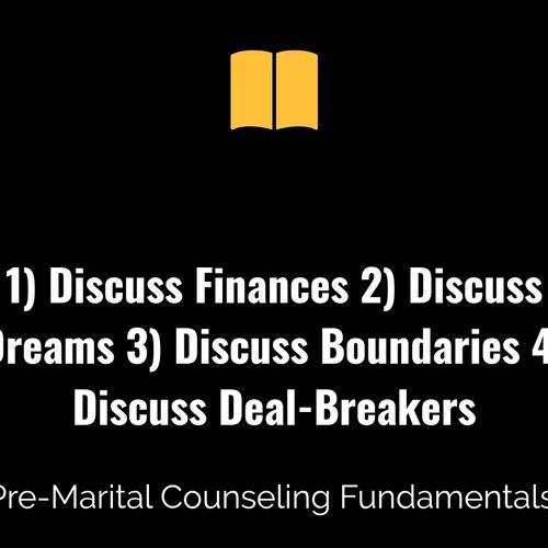 Pre-Marital Counseling Fundamentals