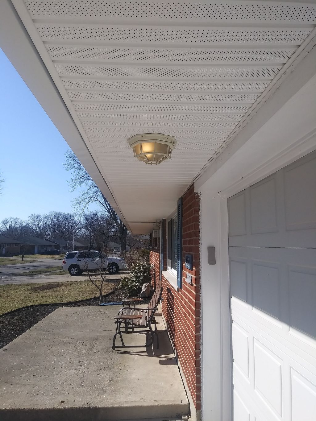 Gutter and soffit