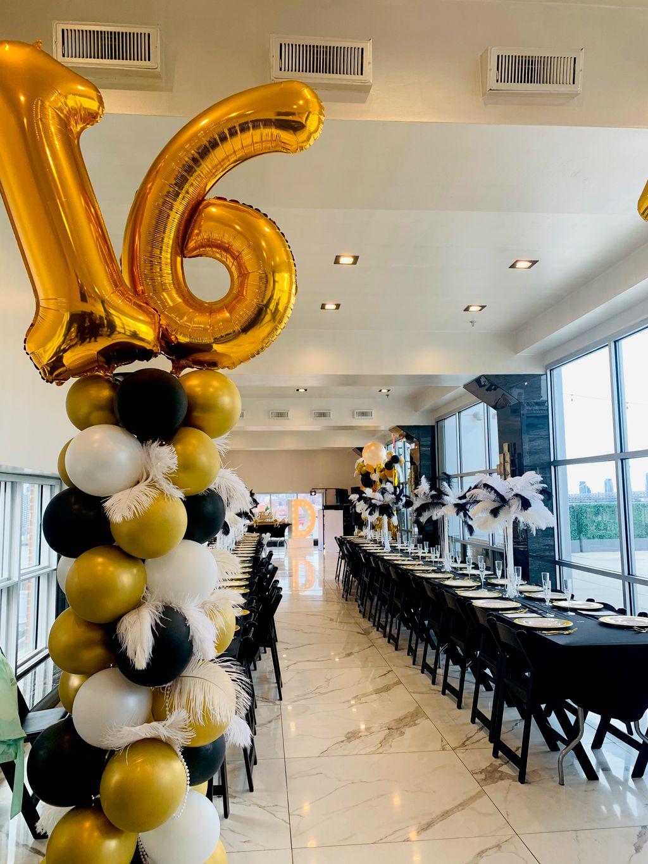 Roaring 20s balloon towers