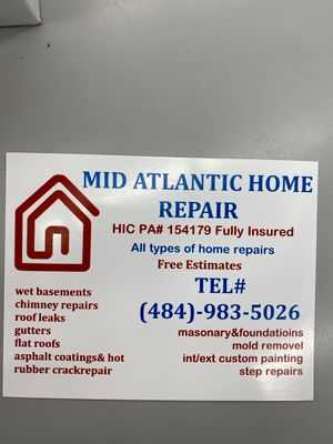 Avatar for Mid Atlantic home repair Philadelphia, PA Thumbtack