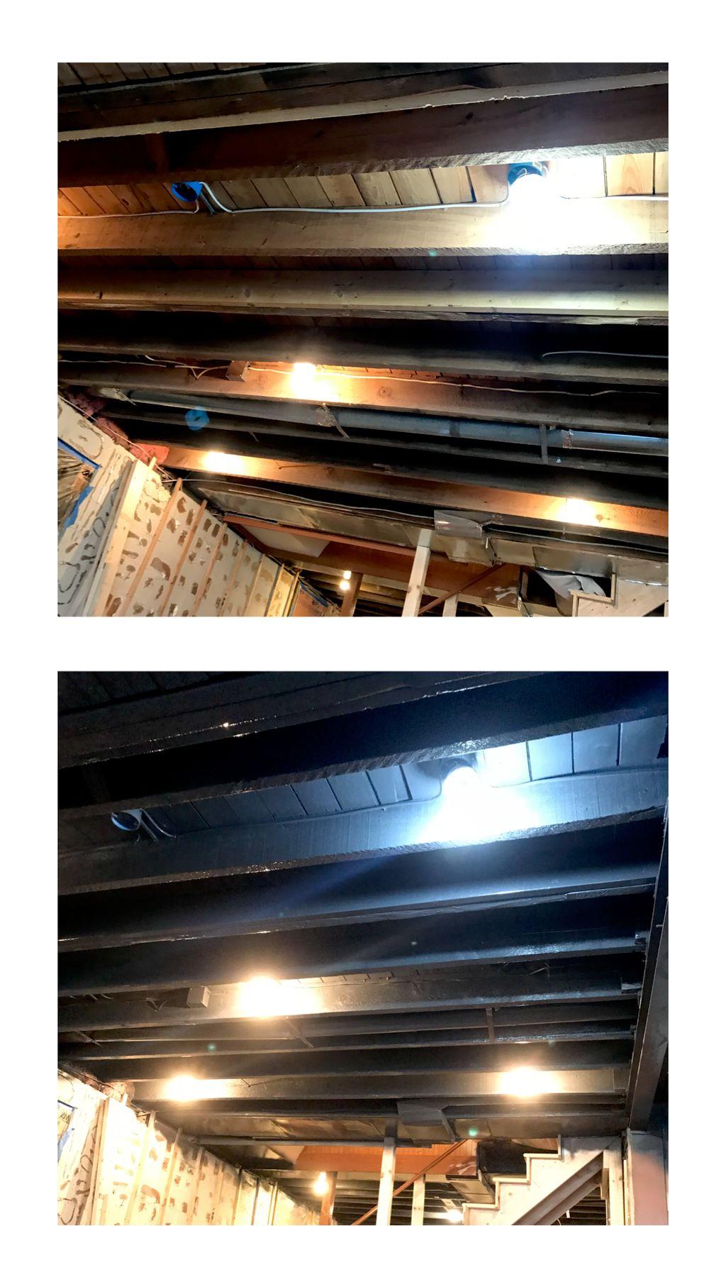 Basement Ceiling and floor joists