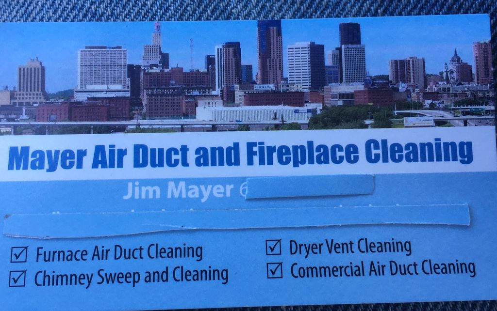 Mayer  air duct and Fireplace cleaning