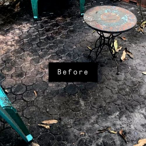 One of the dirtiest patios