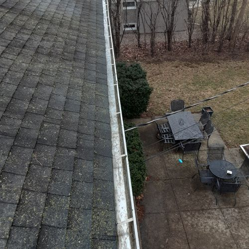After gutter cleaning and flushing.