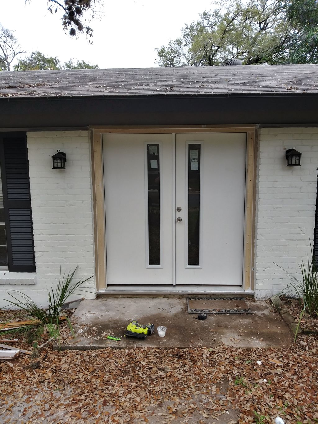 Installation of french doors