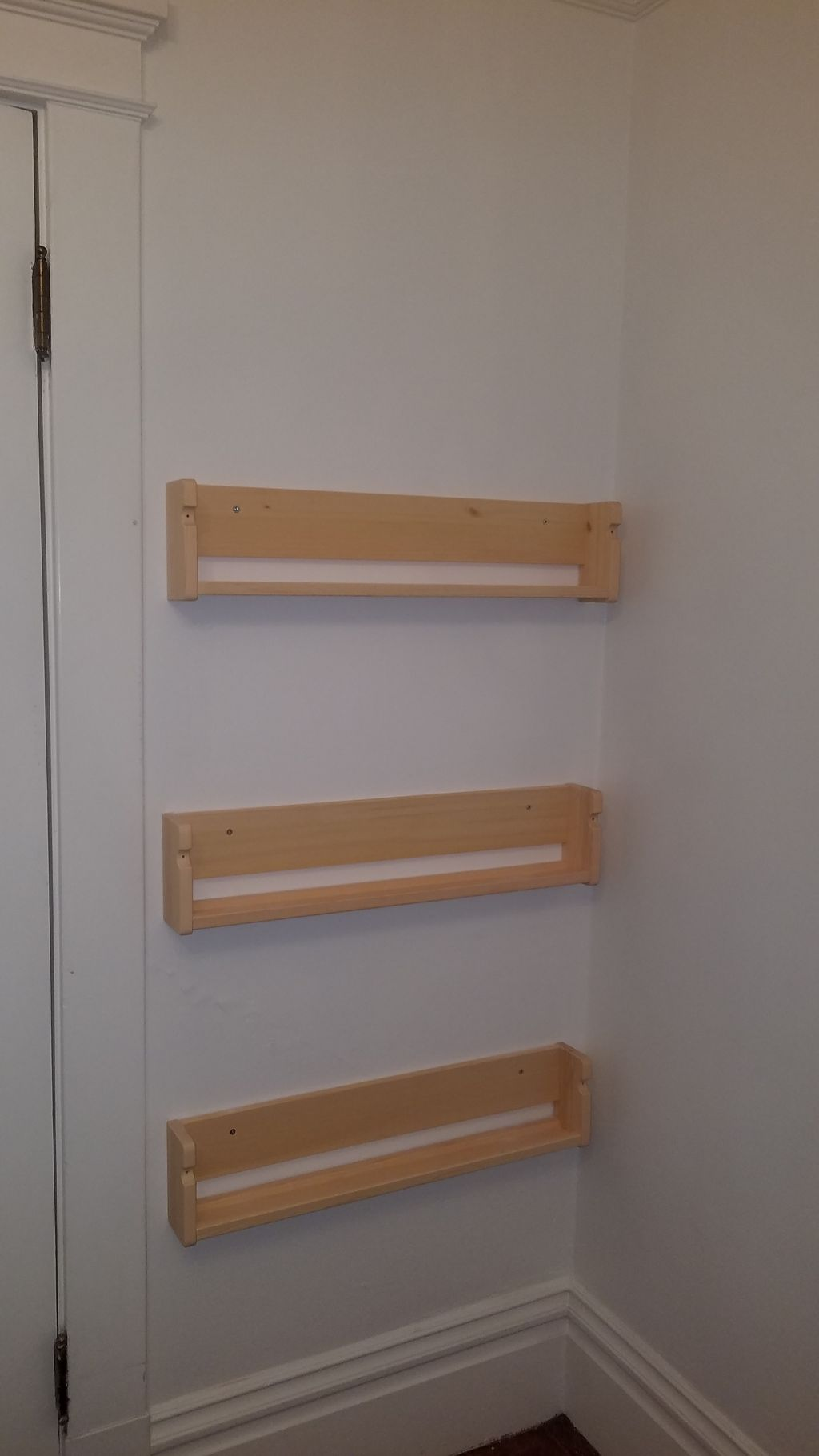 Installation of shelves and curtains