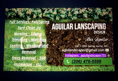 Avatar for Aguilar Landscaping Design Seattle, WA Thumbtack