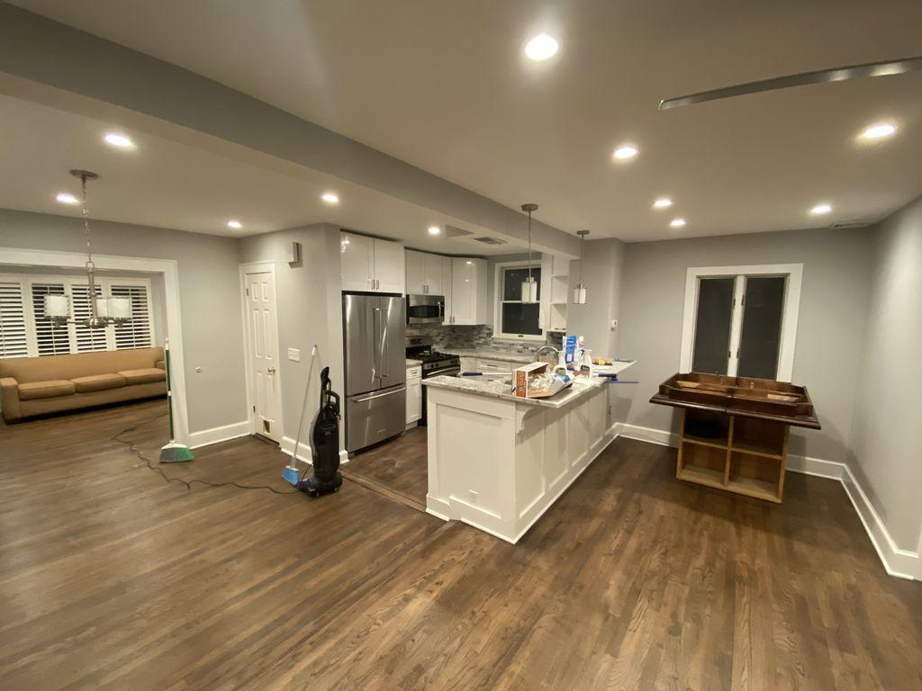 Complete first floor renovation 1200 sqft