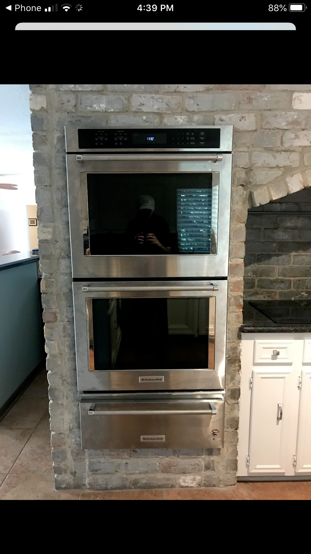 Brick removal for 30 inch oven and warming drawer