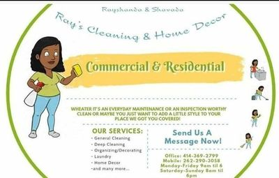 Avatar for Ray's Cleaning & Home Decor by Shavada & Rayshanda