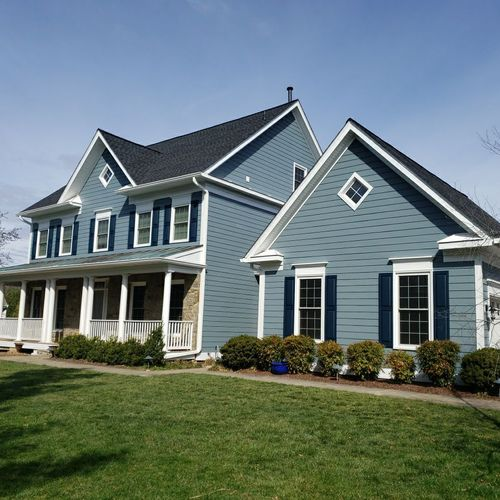Roof, Gutters, and Hardie Plank Siding