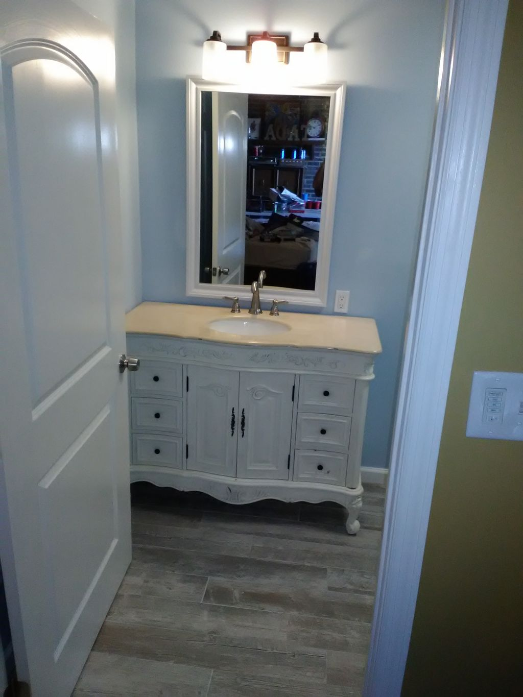 Bathroom expansion with kitchen dinette add on