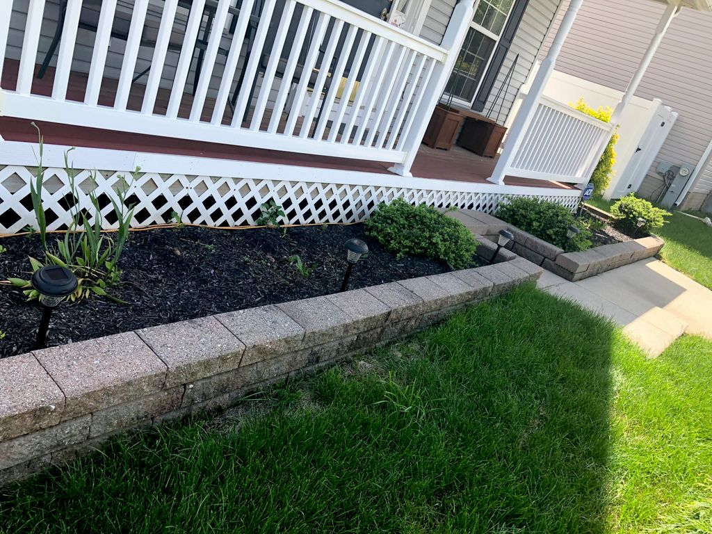 Weeding and mulching beds