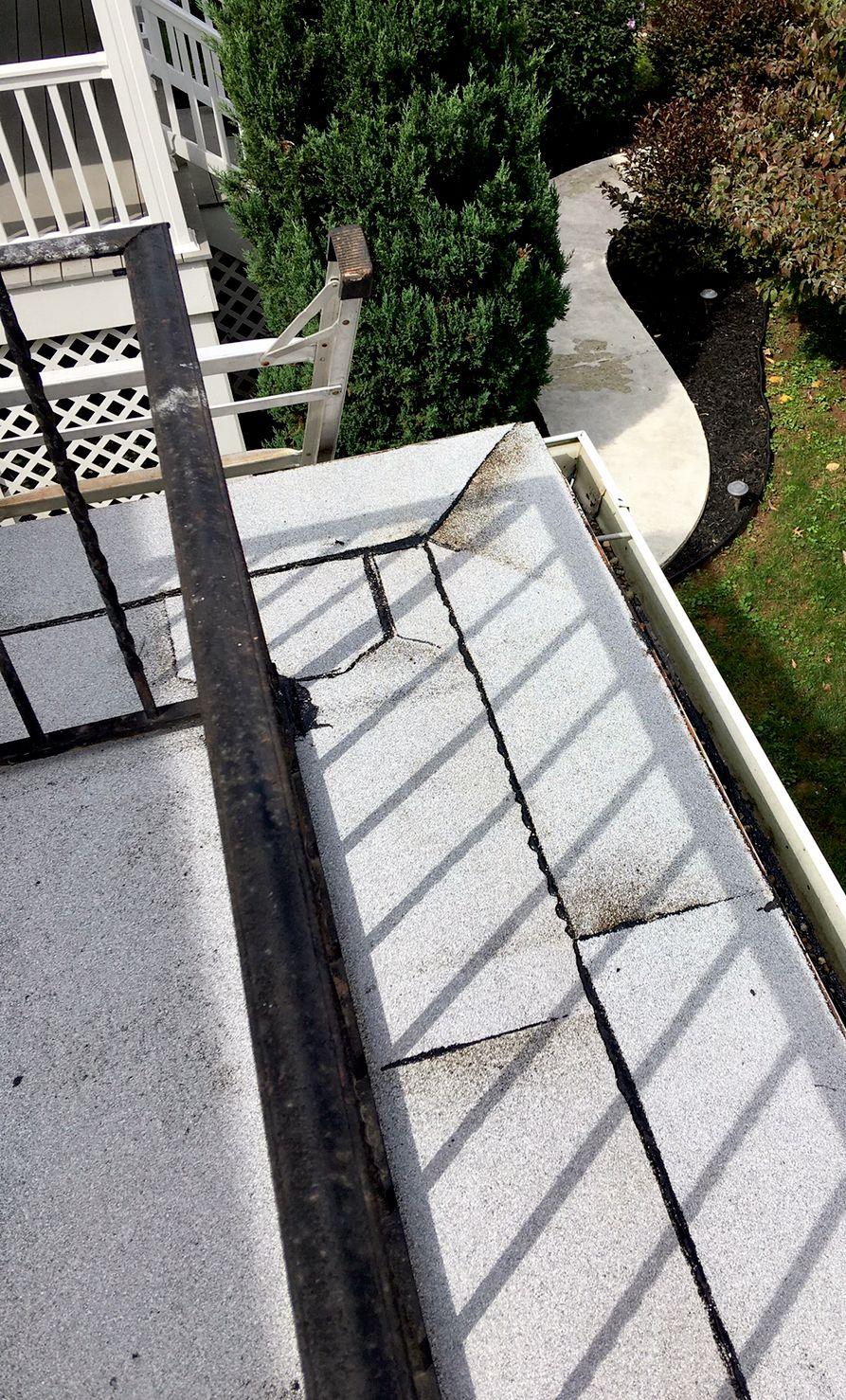 Torch down flat roof repair