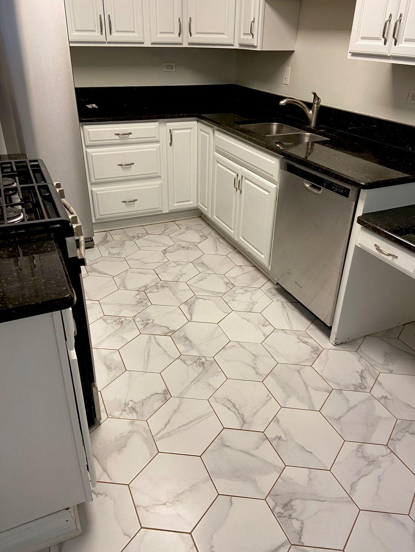 Hexagon Porcelain Tile Installation