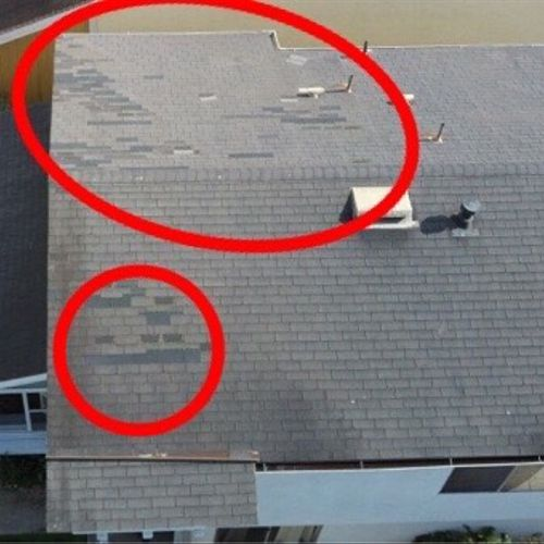 Our drone helps find roofing issues!