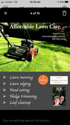 Avatar for Affordable Lawn Care