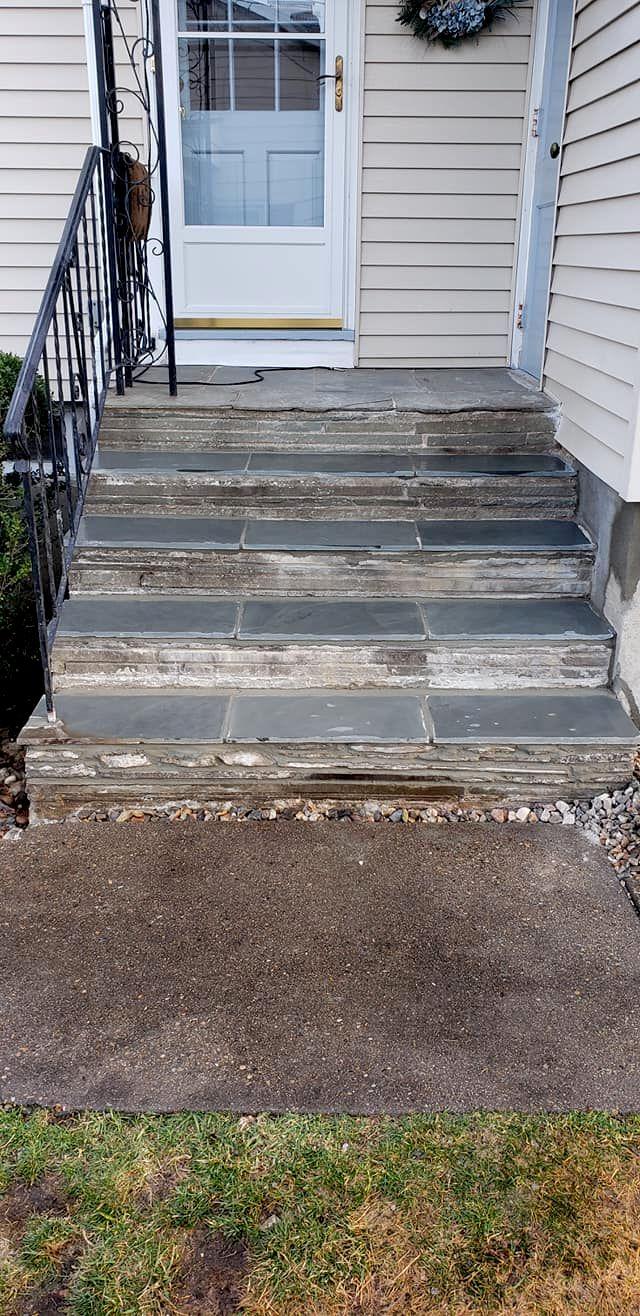 Back Stone Stair Repair